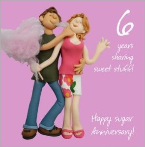 Traditional 6 Year Wedding Anniversary Gift Ideas : ... . Traditional 6 year anniversary gift ideas are candy and iron